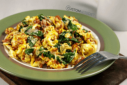 Mexican Keto breakfast scramble recipe